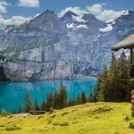 hut-lake-oeschinen-bergsee