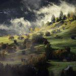 landscape-autumn-fog-village