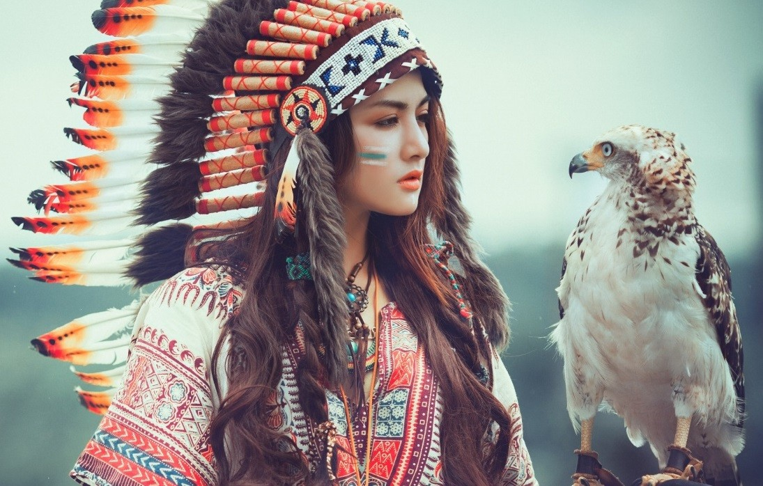 native american girl with eagle wallpaper 1280x720 mldskjnfkdsnfksj   site
